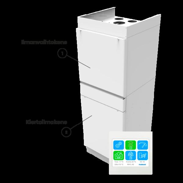 Parmair-Lämpöiivari-II-ilmanvaihtokone-kiertoilmakone